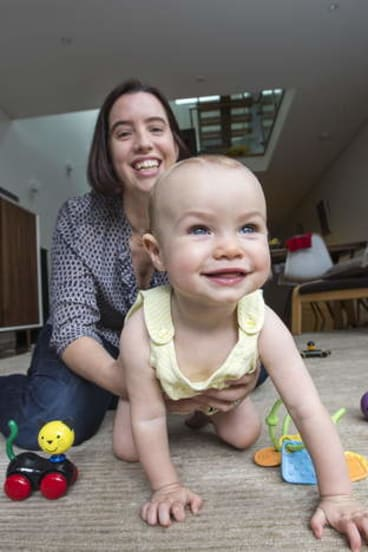 Fight for a spot: Kate Bower with her daughter, Adrienne, 10 months.