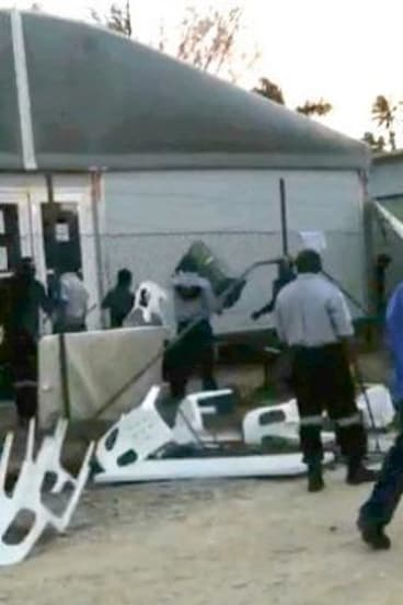 Riots erupted at the Manus Island detention centre on February 17.