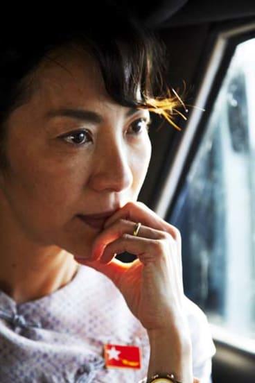 Michelle Yeoh as Aung San Suu Kyi.