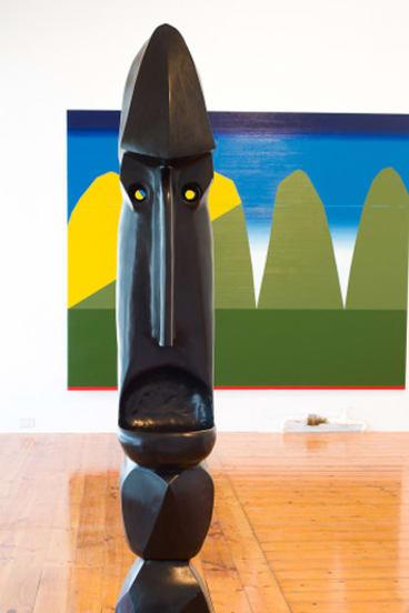 Darren Sylvester's towering totemic sculpture.