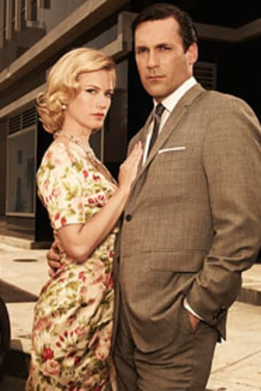 The Drapers ... January Jones and Jon Hamm in their roles as Betty and Don.