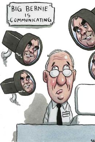 ''Shrinkage'' … Bernie Brookes has his eye on staff and customers. <em>Illustration: John Shakespeare</em>