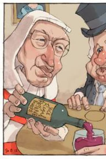 "Cartoon for Mark Hearn column, ""Whitlam a mere mortal to Mason""."