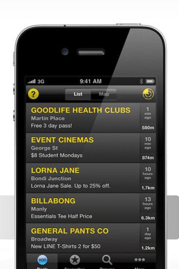 QuickerFeet iPhone app.