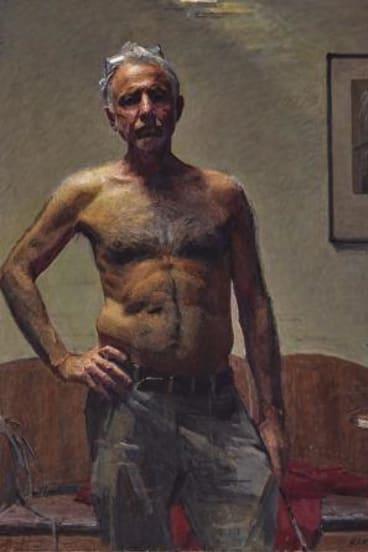 Robert Hannaford, self portrait, oil on canvas.