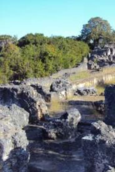 Links to the past … ruins of a palace on the island of Kilwa, an African trading power in the 12th and 13th centuries.