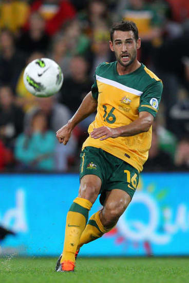Carl Valeri in action for the Socceroos.