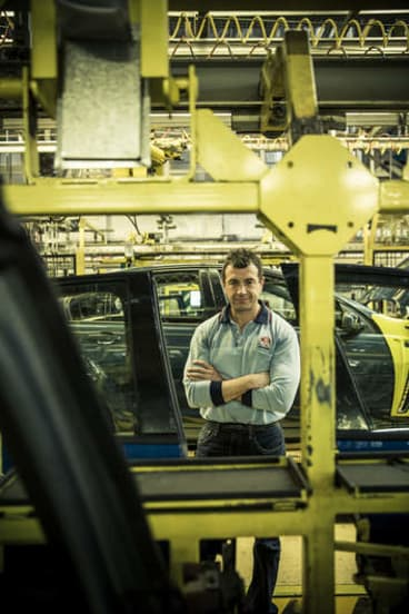 Built to last … Holden maintenance chief Andrew Shaw.