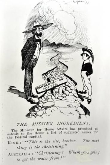 A <i>Bulletin </i> cartoon from November 1912. Kink is King O'Malley.