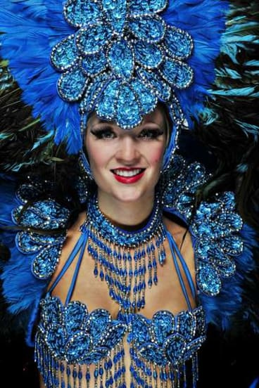 She's got the look ... Fuchsia Bullot will soon leave Canberra for Paris and life in the Moulin Rouge as a showgirl.