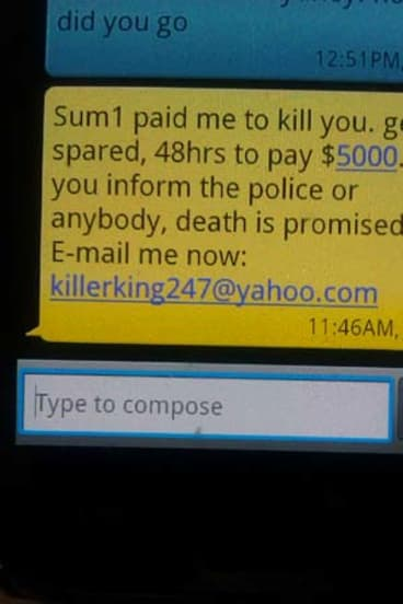 Hoax ... the threatening SMS.