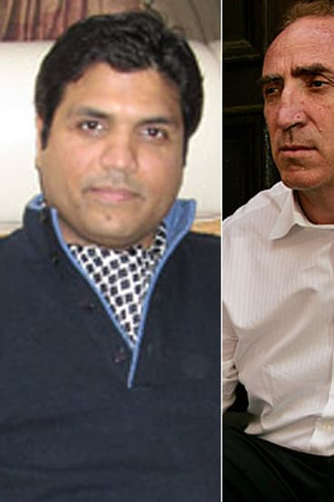 Money scam ... Ahsan Ali Syed, left, and Keith Johnson.