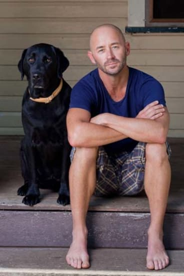 Keeping calm ... Rick Findlater at home with Diesel.