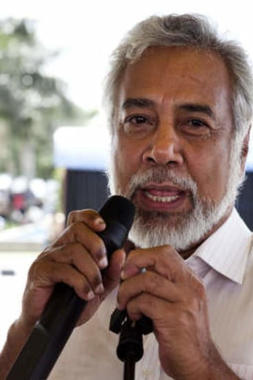 """East Timor's Prime Minister Xanana Gusmao says raiding the offices of a legal representative of Timor-Leste is """"unacceptable conduct""""."""