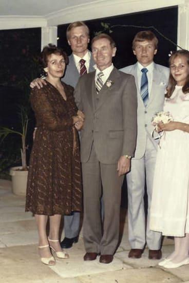 The Plibersek family in Parramatta in 1982 – (from left) Rose, Ray, Joseph, Phillip and Tanya.