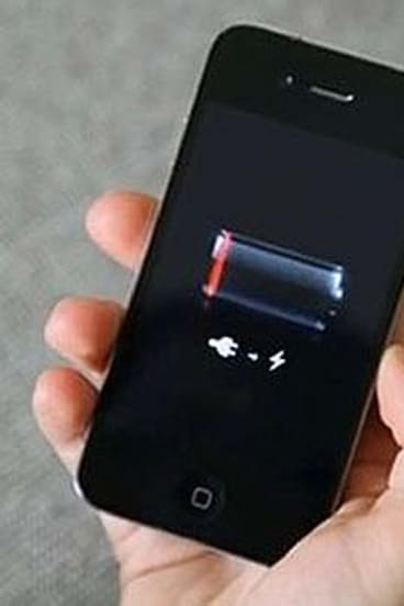 Feeling the drain ... free versions of apps can use 25 per cent more battery life than paid versions.