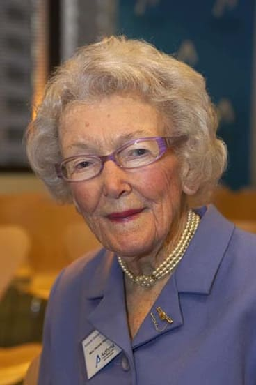 Generosity of spirit … even in later years, Mickie Hardie remained involved in the world around her.
