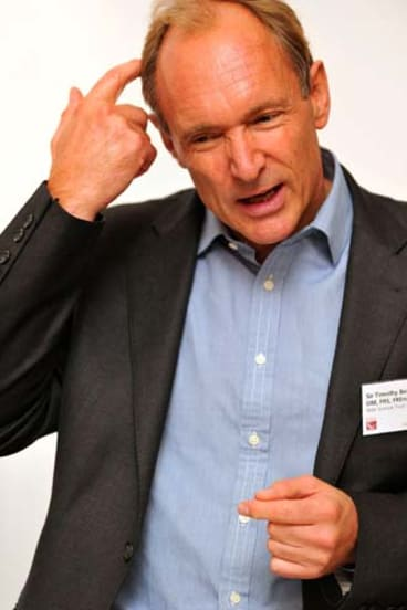 Sir Tim Berners-Lee, the creator of HTML5, addresses a conference in London.