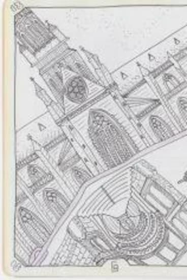 Bec Feiner's sketchbook.