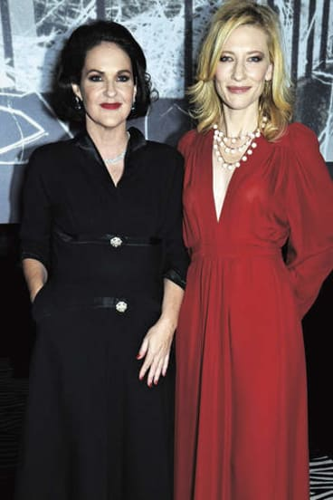 Fashionable circles … with Cate Blanchett at the <i>Vogue Australia</i> 50th anniversary party in 2009.