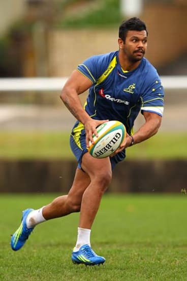 """Bruised and battered"" ... Kurtley Beale's fractured rib has ruled him out of the rest of the Super Rugby season."