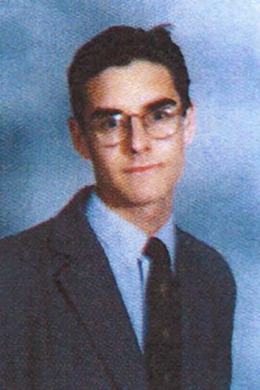 Vulnerable age: Alex Greenwich at high school.