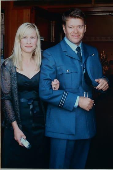 Kellie Merritt and her husband Paul Pardoel, who was killed in Iraq in 2005.