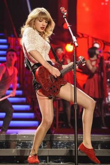 Taylor Swift rocks at Suncorp Stadium.