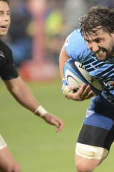 Bull at a gate: Potgieter cut his teeth in Super Rugby with the South African powerhouse.