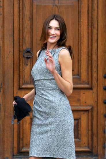 Media courtship ... the publicity obsessed Carla Bruni, wife of President Sarkozy.