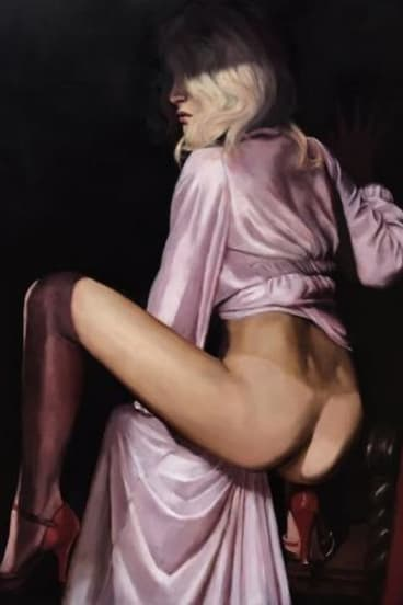 An oil painting by Heidi Yardley, from Sex at Strange Neighbour.