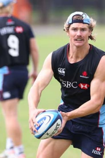 Missing action … Berrick Barnes's injury is crucial.