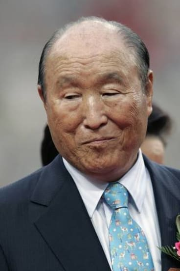 The Reverend Sun Myung Moon in 2007.  He died on Monday.