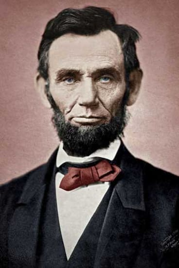 Great political speech: Abraham Lincoln. <i>Colourised by: Juan García/Flickr</i>