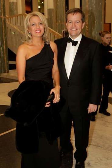 Bill Shorten and partner Chloe Bryce.