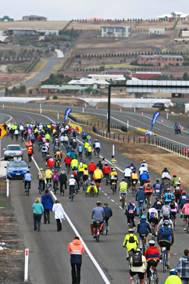 Geelong's ring road, which opened yesterday.