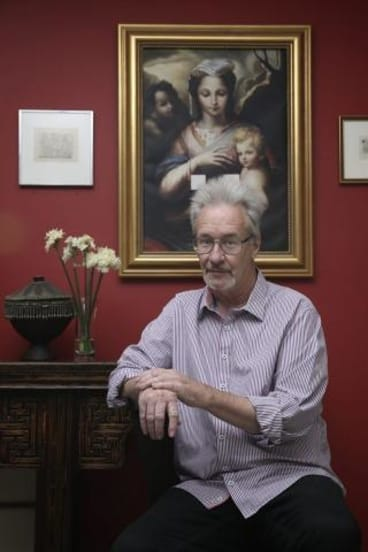Untormented: Mark Henshaw in his Canberra home.