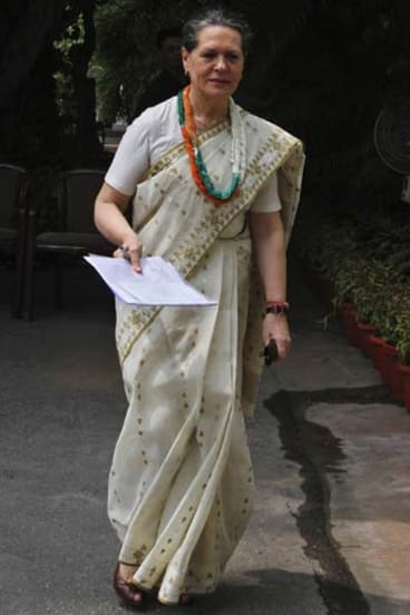 Sonia Gandhi is one of four powerful women in India who lead political parties, but there is still no gender equality within their party ranks.