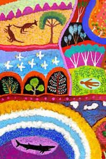 Aboriginal influence: Leunig's colourful <I>Sleep on Country</i>.