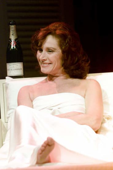 Hughes on stage in <i>The Graduate.</i>