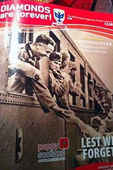 Forced to apologise ...  Airdire mistakenly used a picture of Nazi soldiers on the front cover of a special matchday program