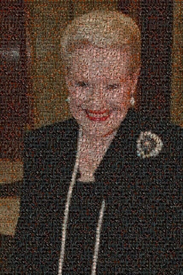 Mosaic of former Speaker Bronwyn Bishop made from the photos of MPs who have been suspended from question tIme under 94a.