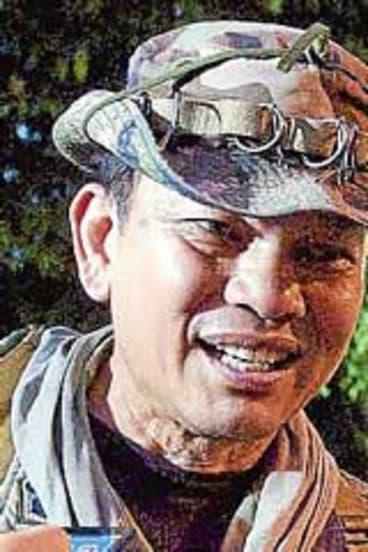 Renegade Thai Major-General Khattiya Sawasdipol in Bangkok last week.