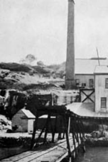 The uranium smelter in the 1910s.