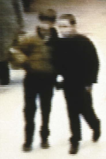 Off the rails … CCTV footage of Jon Venables (left) and Robert Thompson taken in The Strand shopping centre on the day of James Bulger's abduction.
