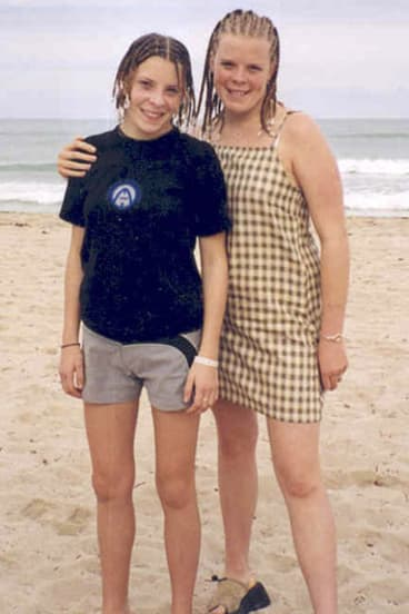 Amanda Dowler, left, known as Milly, poses with her sister Gemma on holiday in Cuba in an undated photo.