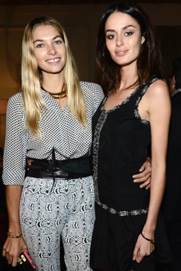 Jess Hart and Nicole Trunfio at New York Fashion Week, September 2012. Photo: Getty Images.