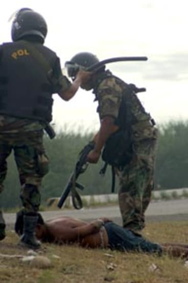 Under the gun...bloodshed after the Peruvian President's patience ran out.