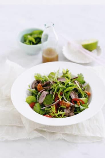 Cold comfort … Thai beef salad.