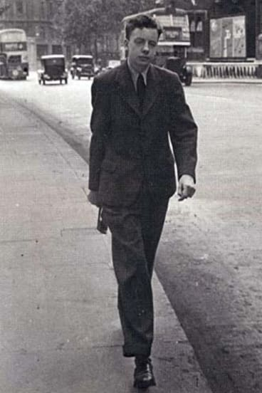 Early years … Charles Higham stepping out in London circa 1948. He and his wife, Norine, moved to Sydney in 1953.